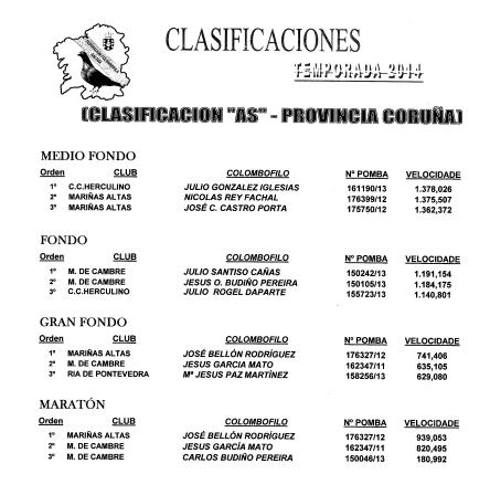 CLASIFICACIONES DEFINITIVAS 2014-1